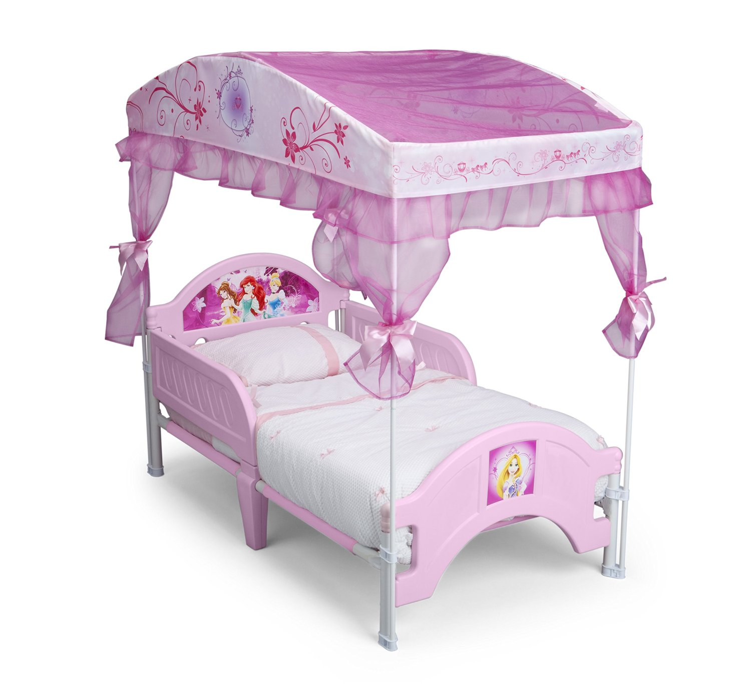sc 1 st  Cool Toddler Beds Review! & Delta Children Canopy Toddler Bed Disney Princess Review