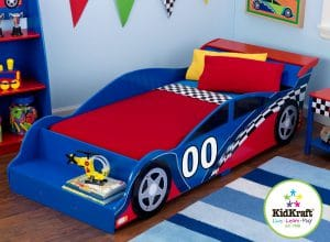kidkraft racecar toddler bed