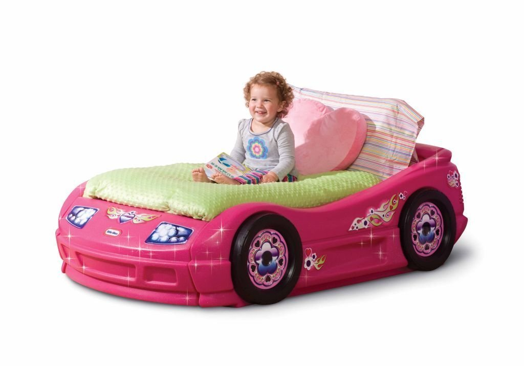 Toddler Bed For Girl Princess: Little Tikes Princess Pink Toddler Roadster Bed