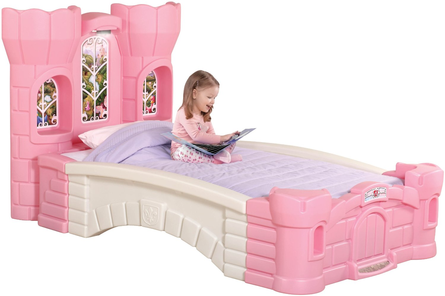 step2 princess palace twin bed the perfect bed for little girls. Black Bedroom Furniture Sets. Home Design Ideas