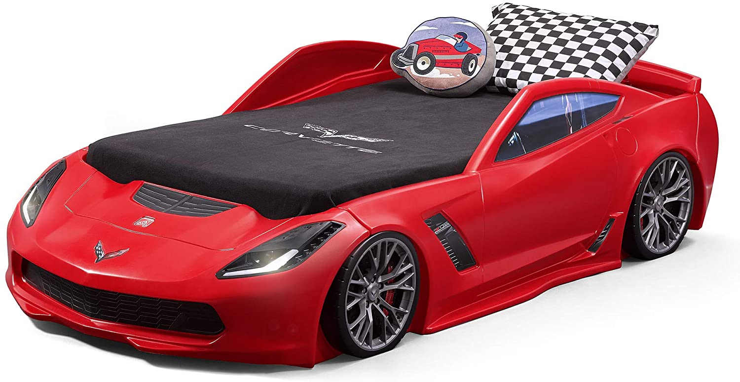 Review and Comparison of the Step2 Corvette Z06 Bed with Lights 10