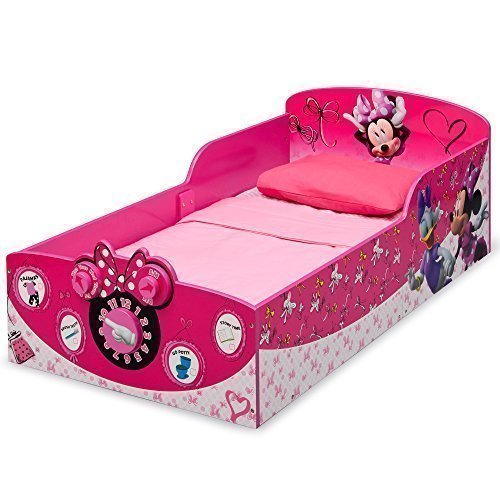 Delta Children Interactive Wood Toddler Bed Disney Minnie Mouse Review 1