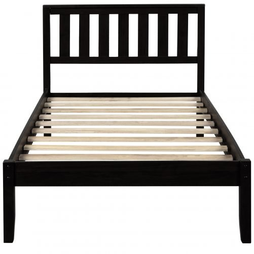 Wood Platform Bed with Headboard/Wood Slat Support,Twin 6