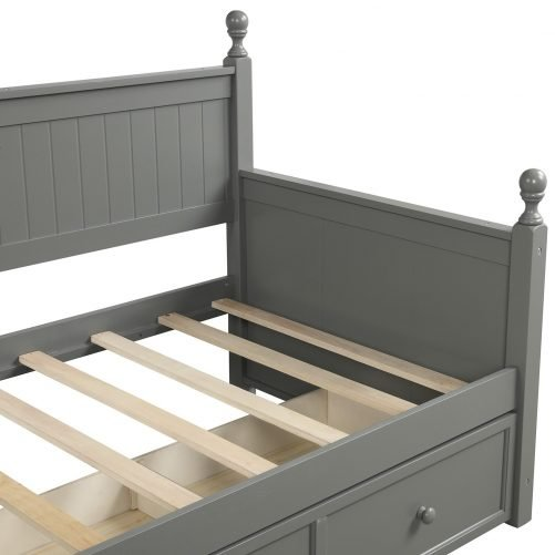 Wood Daybed with Three Drawers ,Twin Size 16