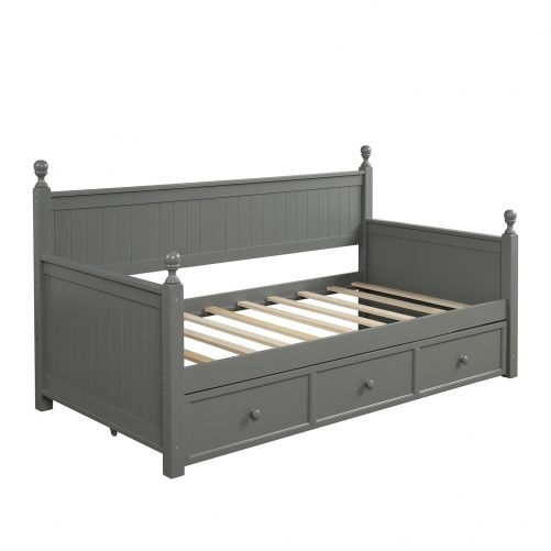Wood Daybed with Three Drawers ,Twin Size 6