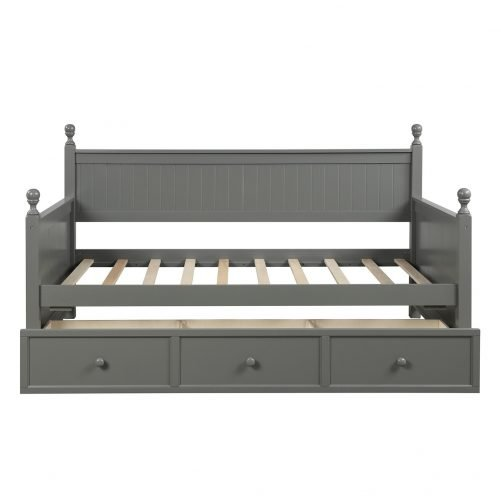 Wood Daybed with Three Drawers ,Twin Size 12
