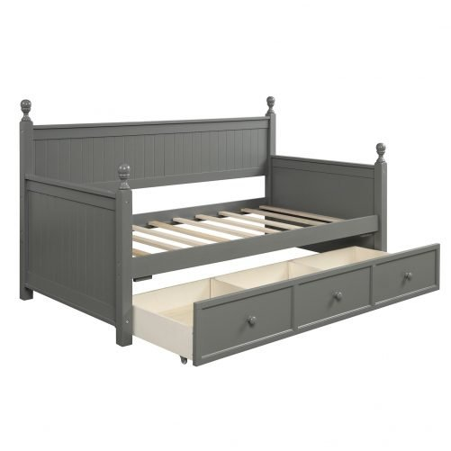 Wood Daybed with Three Drawers ,Twin Size 8