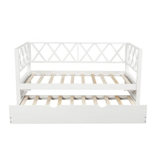 Wood Daybed with Trundle,Twin Size 4