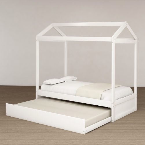 House Bed with Trundle, Can Be Decorated 16