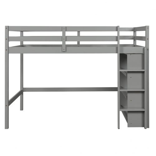 Twin over Twin Bed with Shelves 5