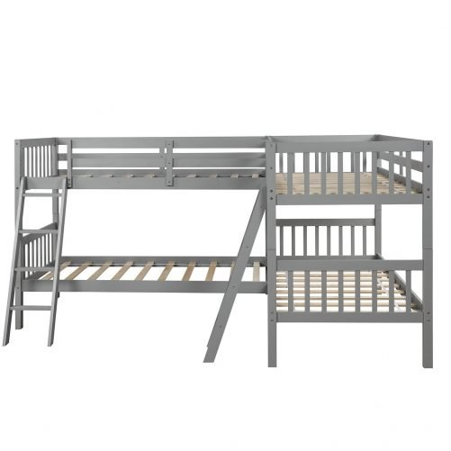 L-Shaped Bunk Bed Twin Size 14
