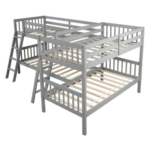 L-Shaped Bunk Bed Twin Size 16
