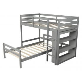 Twin over Twin Bed with Shelves 2