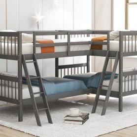 L-Shaped Bunk Bed Twin Size 1