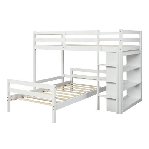 Twin over Twin Bed with Shelves 10