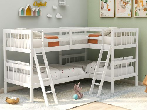 L-Shaped Bunk Bed Twin Size 28