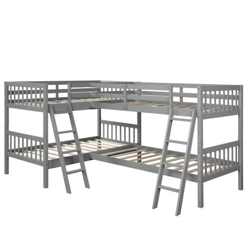 L-Shaped Bunk Bed Twin Size 10