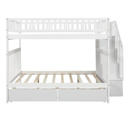 Full over full bunk bed with two drawers and storage 5
