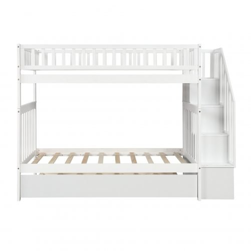 Twin over Twin Bunk Bed, with Trundle and Storage 20
