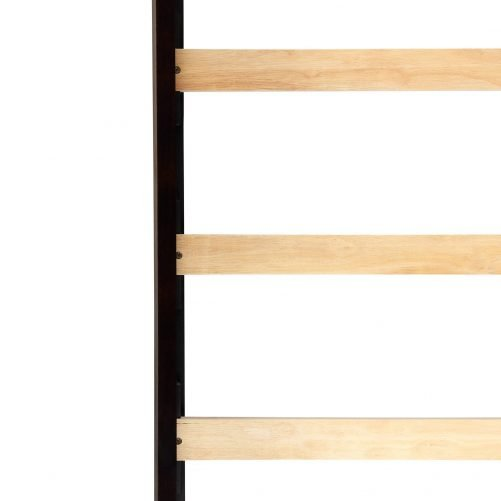 Solid Wood Twin Size Loft Bed Panel Style Loft Bed,Side Angled Ladder 5