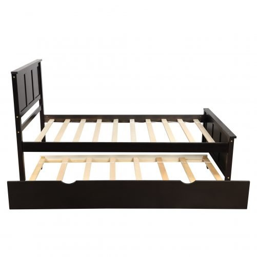 Platform Bed With Twin Size Trundle 10