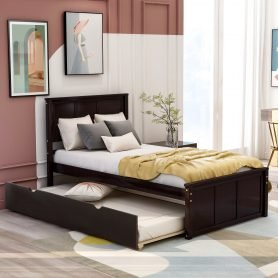 Platform Bed With Twin Size Trundle 2