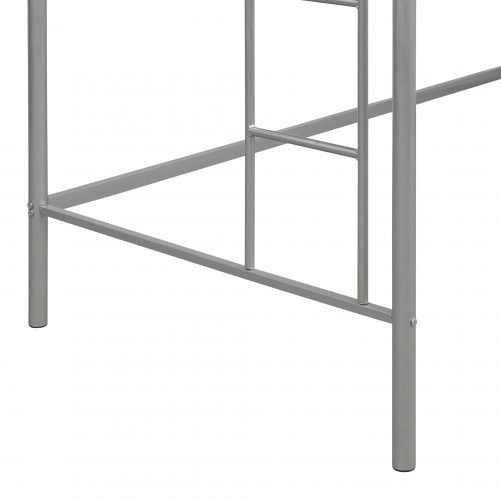 Twin Loft Bed With Sturdy Steel Frame, Guard Rail, Two-side Ladders 18