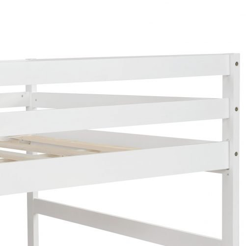 Full Over Full Bunk Bed With Twin Size Trundle White