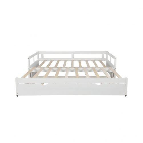 Extending Daybed With Trundle,wooden Daybed With Trundle, White
