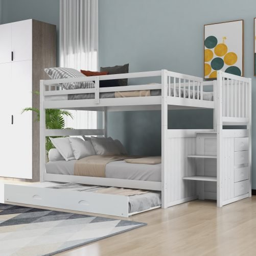 Full Over Full Bunk Beds With Twin Size Trundle