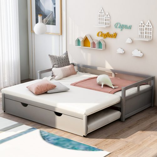 Extending Wooden Daybed With Trundle