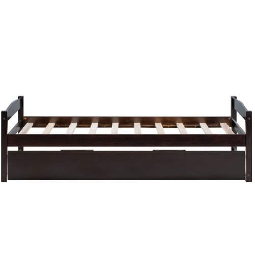 Wooden Daybed With Trundle, Twin Size