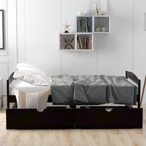 Twin Size Platform Bed With 2 Drawers