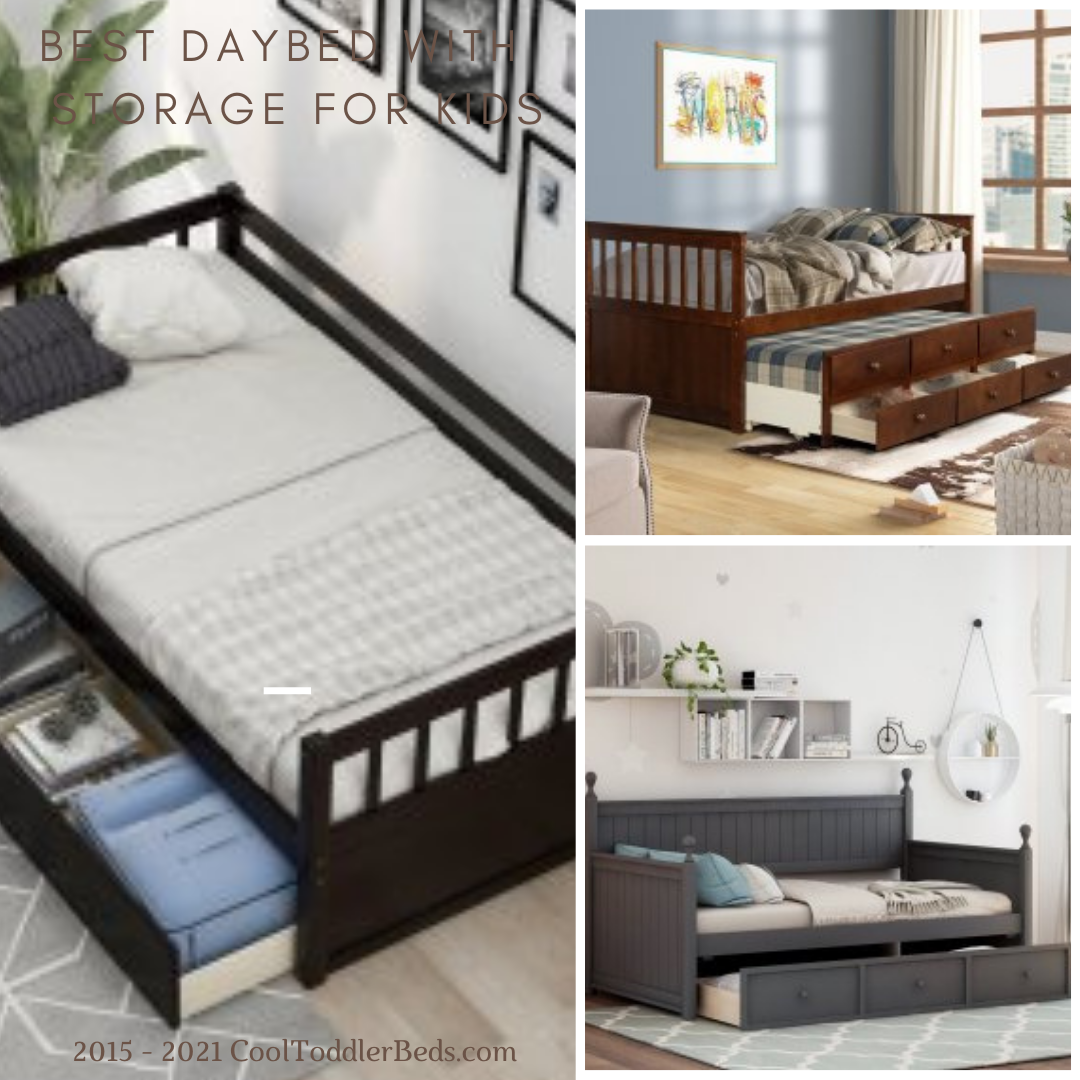 Best Daybed Sith Storage For Kids