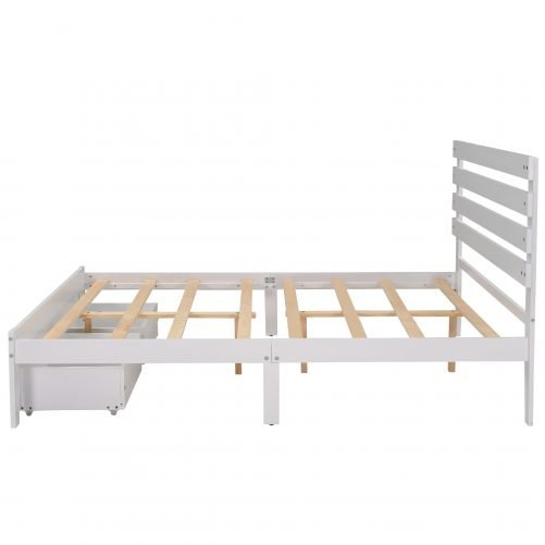 Full Size Platform Bed With Drawers