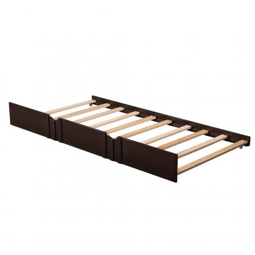 Twin Size Daybed Wood Bed With Twin Size Trundle