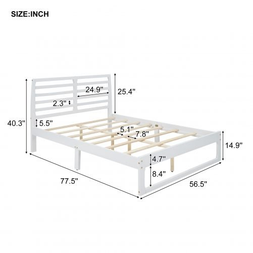 Full Size Platform Bed With Headboard