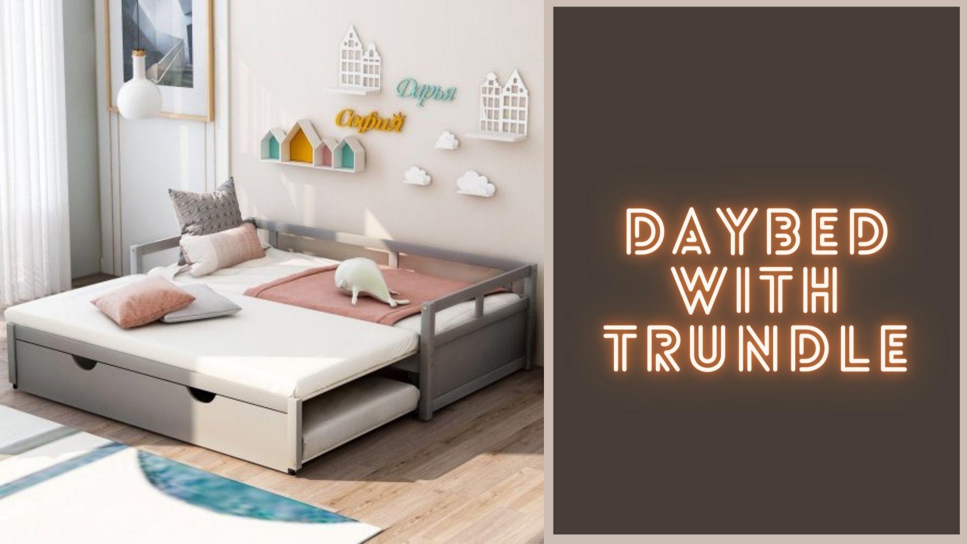 Best Daybed with Trundle For Toddler and Kids 1