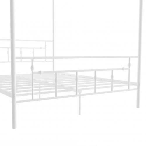 Queen Size Metal Canopy Bed With Headboard
