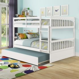 Full Over Full Bunk Bed With Trundle, Detachable