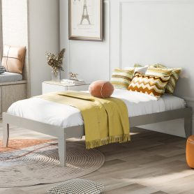 Platform Bed With Pine Wood