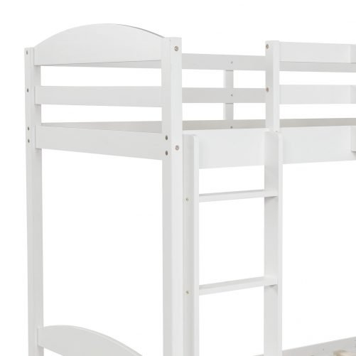 Twin L-Shaped Bunk Bed And Loft Bed