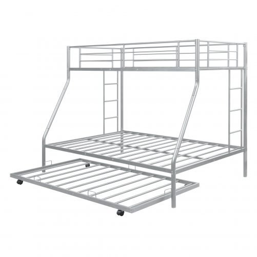 Twin Over Full Bunk Bed With Sturdy Steel Frame