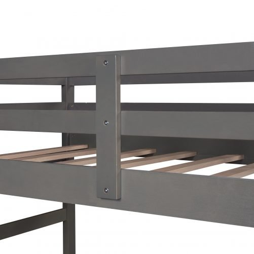 Twin Over Twin Bunk Bed With Trundle And Staircase