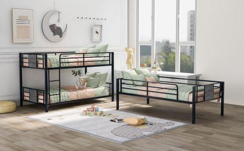 Twin Size Metal Triple Bunk Bed