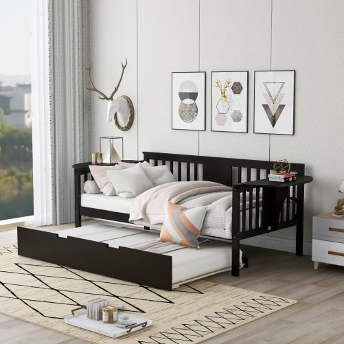 Twin Wooden Daybed With Trundle
