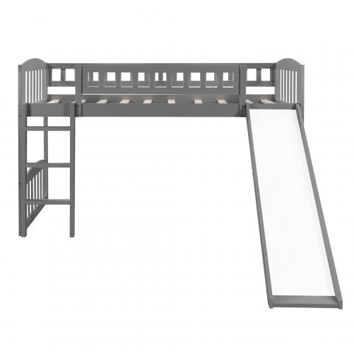 Twin Size Loft Bed With Slide And Ladder