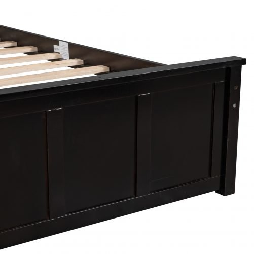 Twin Size Platform Bed With Trundle