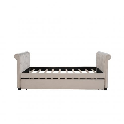 Twin Size Upholstered Daybed With Trundle