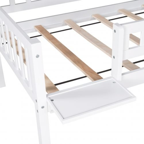 Twin over Twin over Twin Triple Bed With Built-in Ladder And Slide